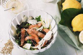 Insalata con salmone marinato #GuzziniSalaDesign